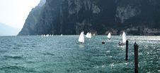 Landscapes Series - Garda Lake - Sailing Royalty Free Stock Photo