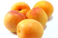 Free Five Apricots Royalty Free Stock Photo - 5652385