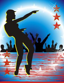 Free Stars Dance Royalty Free Stock Photo - 5653375