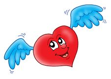 Free Smiling Heart With Wings Royalty Free Stock Photo - 5653725