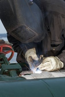 Free Weld At Work Stock Image - 5655511