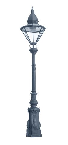 Iron Street Lamp Cutout Stock Photography