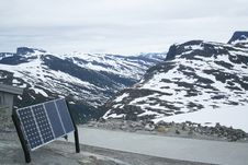 Free Sun Battery In The Mountains Stock Images - 5655964
