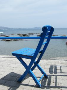 Free Blue Wooden Chair Stock Photography - 5656092