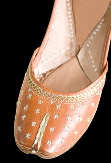 Indian Shoe Close Up Stock Photography