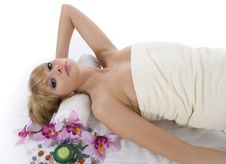 Free Attractive Woman Getting Spa Treatment Royalty Free Stock Photos - 5659178
