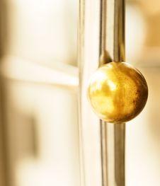 Golden Round Door Handle Stock Images