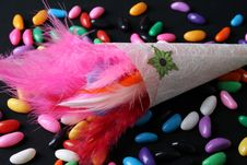 Free Feather Confetti Stock Photography - 5659382
