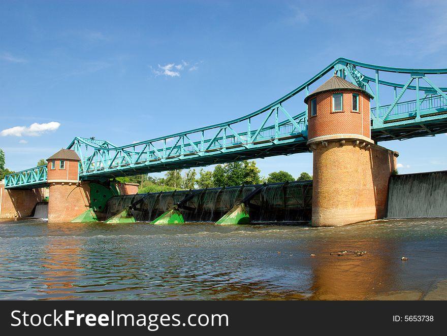Weir on Odra river