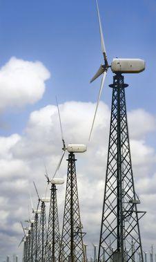 Group Of Windturbines Stock Photo