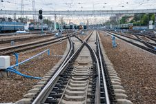 Railway Junction. Stock Image