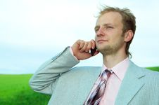 Free Businessman In Field Stock Photography - 5660512