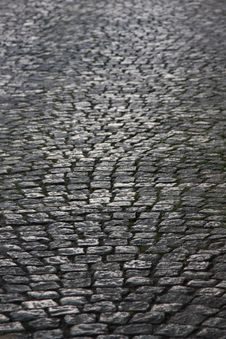 Free Old Cobble Road Royalty Free Stock Photos - 5660858