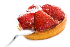 Free Strawberry Cake With A Spoon Royalty Free Stock Photo - 5661005