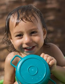 Wet Baby Royalty Free Stock Image