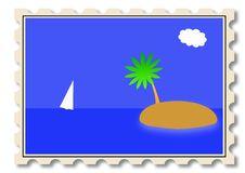 Post Stamp Illustration Royalty Free Stock Images