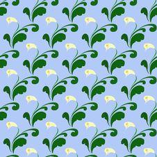 Free Seamless Flower Wallpaper Royalty Free Stock Photo - 5661775