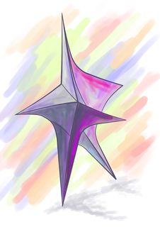 Violet Abstract Star Royalty Free Stock Photography