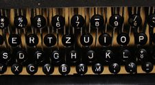 Free Old Manual Typewriter Keyboard Stock Image - 5663411
