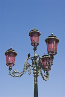 Free Lamppost On Piazza San Marco In Venice Royalty Free Stock Photo - 5663865