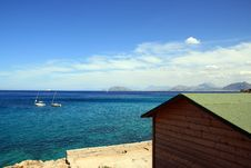 Blue Summer Seascape, Italy Royalty Free Stock Images