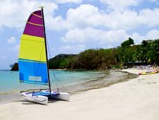 Free Catamaran On Beach Stock Photography - 5666542