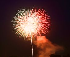 Free The July 4th Fireworks Royalty Free Stock Images - 5666599