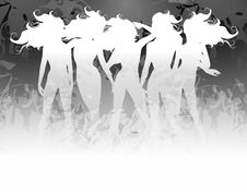 Women Hair Silhouettes 2 Royalty Free Stock Photography