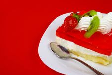Free Cream And Jelly Cake Stock Photos - 5667493