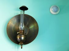 Free A Kerosene Lamp And An Annunciator Royalty Free Stock Image - 5668566