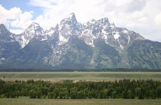 The Teton Mountain Range Royalty Free Stock Photo