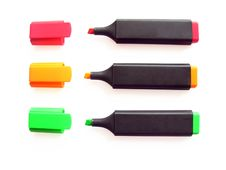 Free Three Markers 3 Royalty Free Stock Images - 5669329