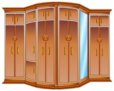 Free Wooden Wardrobe Royalty Free Stock Photography - 5669767