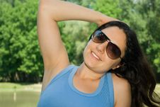 Beautiful Girl Enjoying Outdoors Stock Images