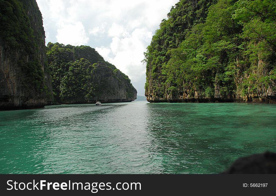 Island in the Indian Ocean Near Phi-Phi