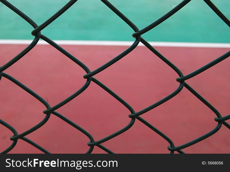 Playground behind the net