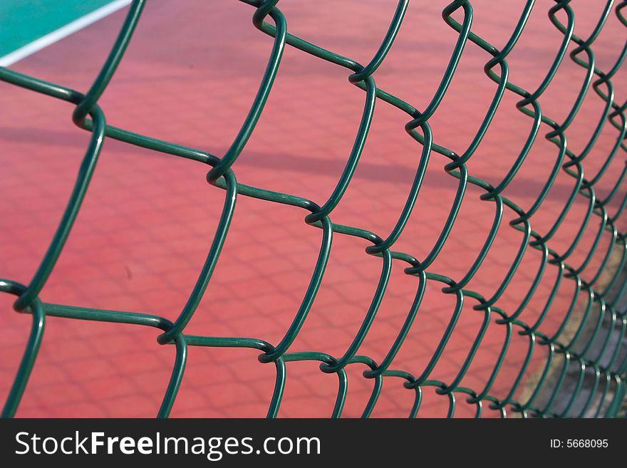 Raceway behind the net