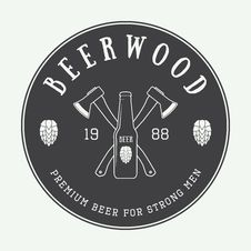 Free Vintage Beer Logo, Label Or Badge. Stock Images - 56695614