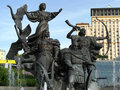 Free Fountain On The Independence Square In Kiev Stock Image - 5671011