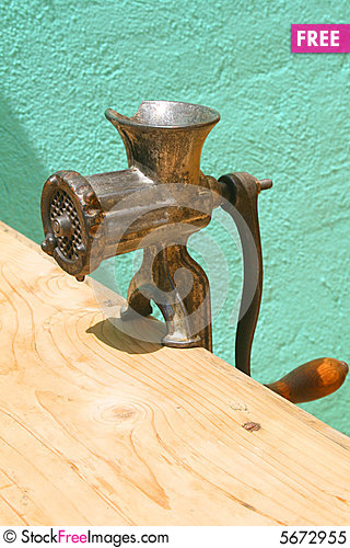 Free Antique Meat Grinder Royalty Free Stock Photo - 5672955