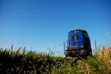 Blue Train Stock Photo