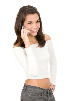 Free On The Phone Stock Photo - 5670530
