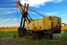 Old Rusty Excavator Royalty Free Stock Photos