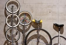 Free A Variety Of Unicycles Royalty Free Stock Photo - 5670995