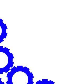 Free A4 Layout - Blue Big Gear-Driven Wheels Stock Photos - 5671663