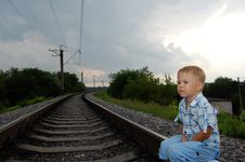 Free Boy On The Railway Stock Photos - 5671833