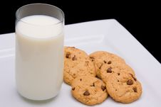 Free Milk And Cookies Stock Image - 5672081