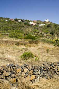 Small Village On Hill, El Hierro, Canary Islands Royalty Free Stock Image