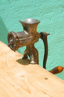 Antique Meat Grinder Royalty Free Stock Photo