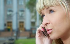 Free Woman Talk To Cellphone Royalty Free Stock Images - 5673379